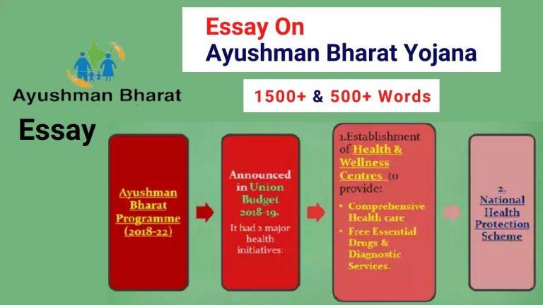 Essay On Ayushman Bharat Yojana