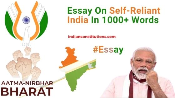 Essay On Self-Reliant India Mission In English