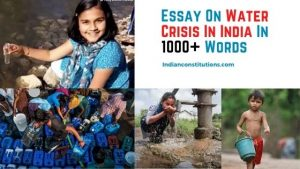 Essay On Water Crisis