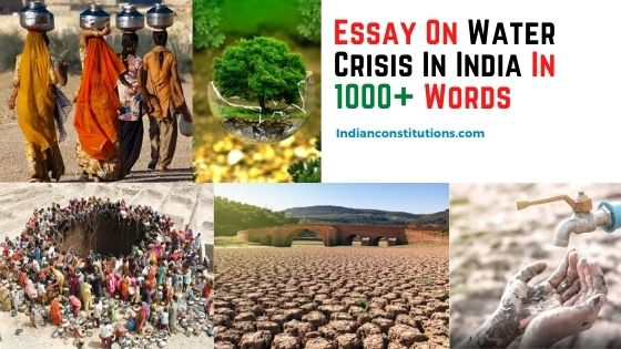 Essay On Water Crisis In India